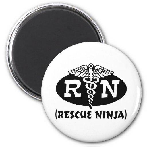 Ninja Nurse 2 Inch Round Magnet
