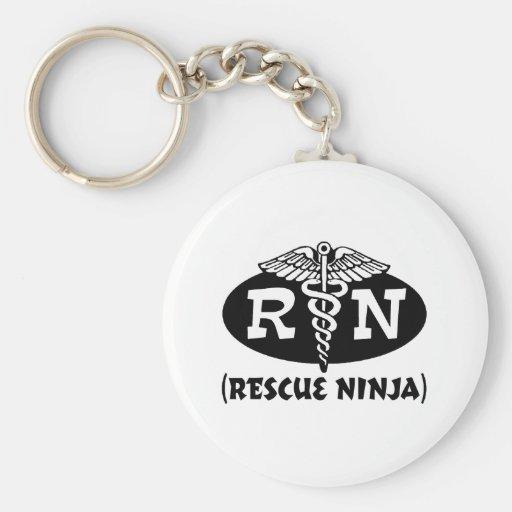 Ninja Nurse Basic Round Button Keychain