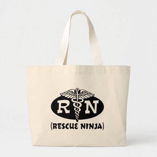 Ninja Nurse Jumbo Tote Bag