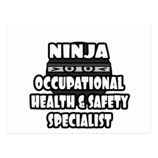 Ninja Occupational Health and Safety Specialist Postcard