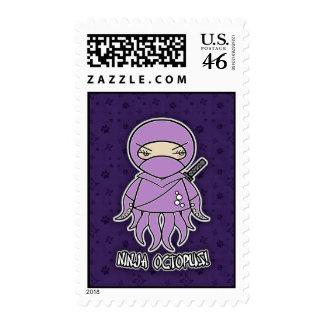 Ninja Octopus! Postage Stamp