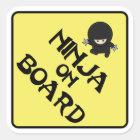 Ninja on Board Square Sticker
