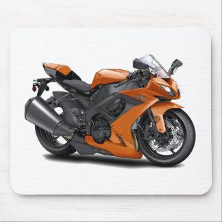 Ninja Orange Bike Mouse Pad