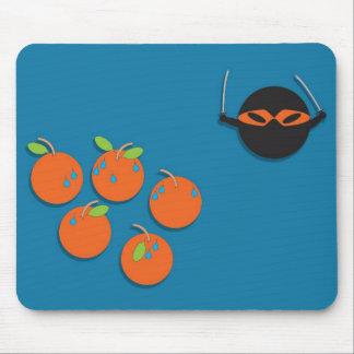 Ninja Orange Mouse Pad