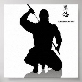 ninja oscuro, shhinnob póster
