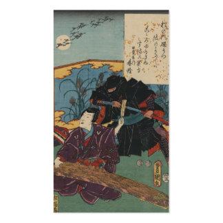 Ninja Painting circa 1853 Japan Business Cards