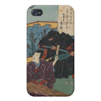 Ninja Painting circa 1853 Japan iPhone 4 Cases