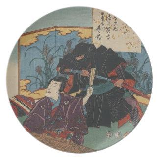 Ninja Painting circa 1853 Plate