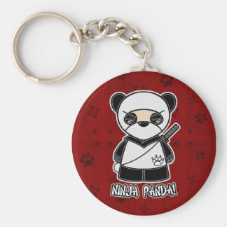 Ninja Panda! In Red Keychain