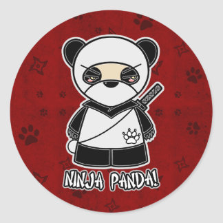 Ninja Panda! In Red Sticker