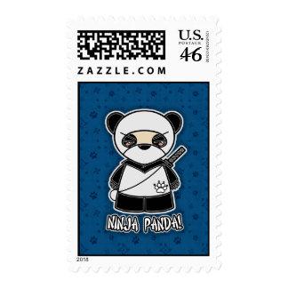 Ninja Panda! Postage Stamp