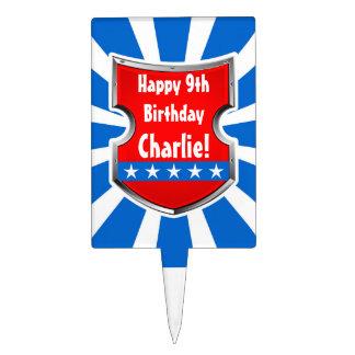 Ninja Patriotic Warrior Boys Kids Birthday Party Cake Topper