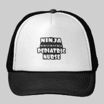 Ninja Pediatric Nurse Trucker Hats