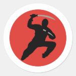 Ninja Pegatina Redonda