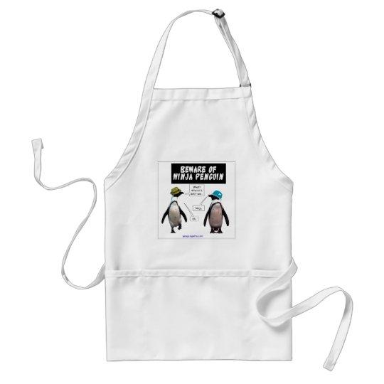 Ninja penguin adult apron