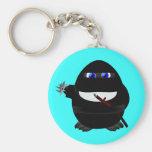 Ninja Penguin Basic Round Button Keychain