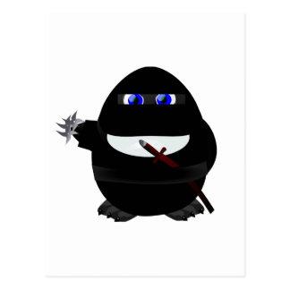 Ninja Penguin Postcard
