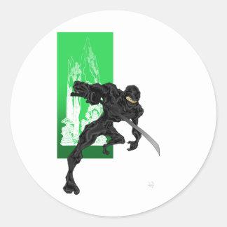 Ninja Perspective Classic Round Sticker