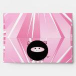 Ninja Pig on Pink Envelopes