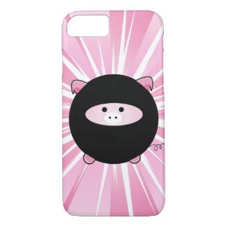 Ninja Pig on Pink iPhone 7 Case