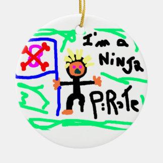 Ninja PIrate Ceramic Ornament