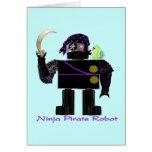 Ninja Pirate Robot Card