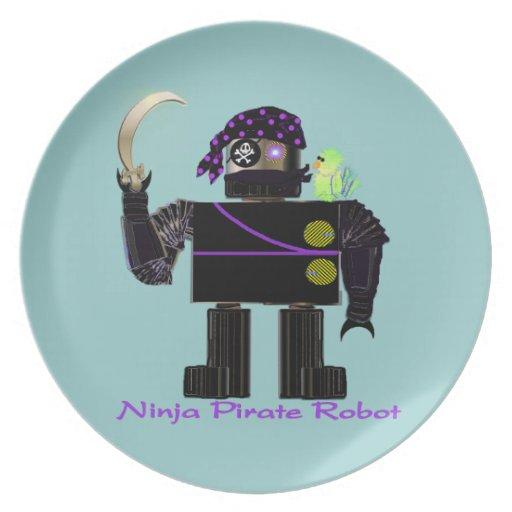Ninja Pirate Robot Plate