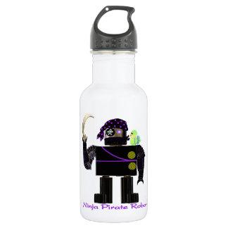 Ninja Pirate Robot Water Bottle