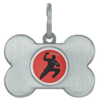 Ninja Placas De Nombre De Mascota