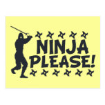 Ninja Please Postcard
