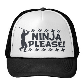 Ninja Please Trucker Hat