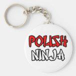 Ninja polaco llaveros personalizados