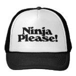 Ninja por favor gorros bordados
