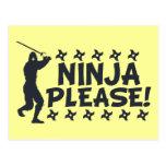 Ninja por favor tarjetas postales