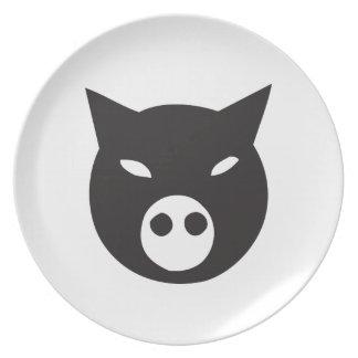 Ninja Pork Melamine Plate