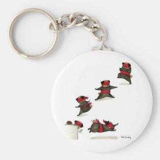 Ninja Pug Snack Attack! Keychain