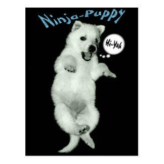 Ninja Puppy Postcard