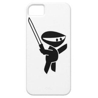 Ninja que maneja una espada de Katana iPhone 5 Case-Mate Protectores