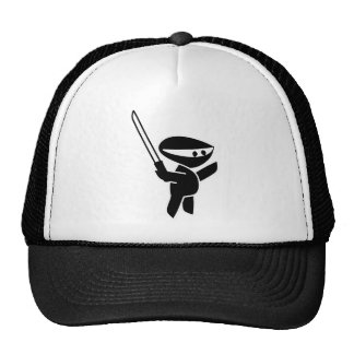 Ninja que maneja una espada de Katana Gorros