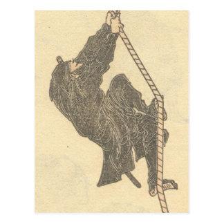 Ninja que sube una cuerda circa los 1800s Japón Postal
