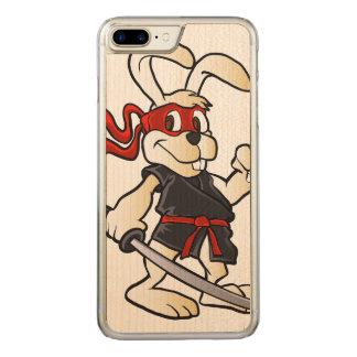 ninja rabbit cartoon carved iPhone 7 plus case