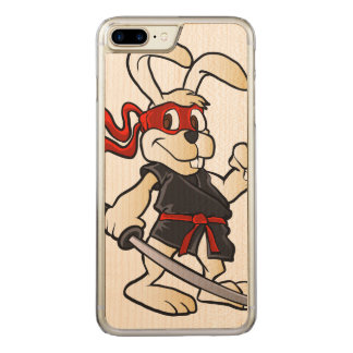 ninja rabbit cartoon carved iPhone 8 plus/7 plus case