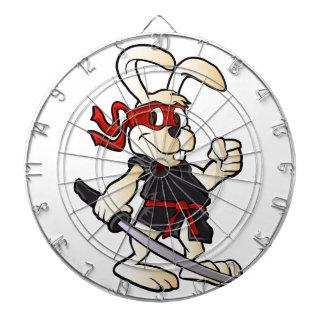 ninja rabbit cartoon dart boards