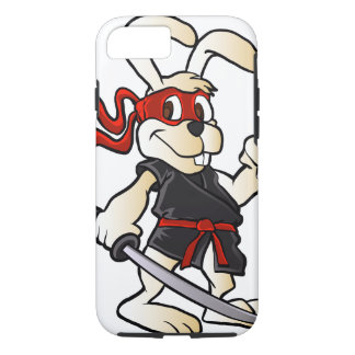 ninja rabbit cartoon iPhone 8/7 case
