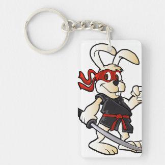 ninja rabbit cartoon keychain