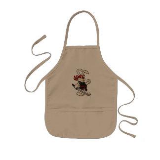 ninja rabbit cartoon kids' apron