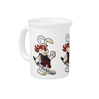 ninja rabbit cartoon pitchers