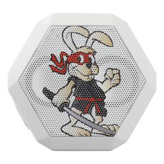 ninja rabbit cartoon white bluetooth speaker