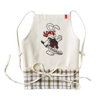 ninja rabbit cartoon zazzle HEART apron