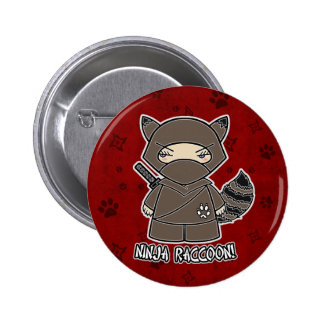 Ninja Raccoon! In Red Button